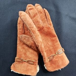 Vintage 70's Suede Gloves, Small